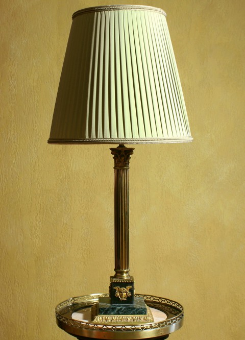 Антикварная настольная лампа Франция 19 век Ампир