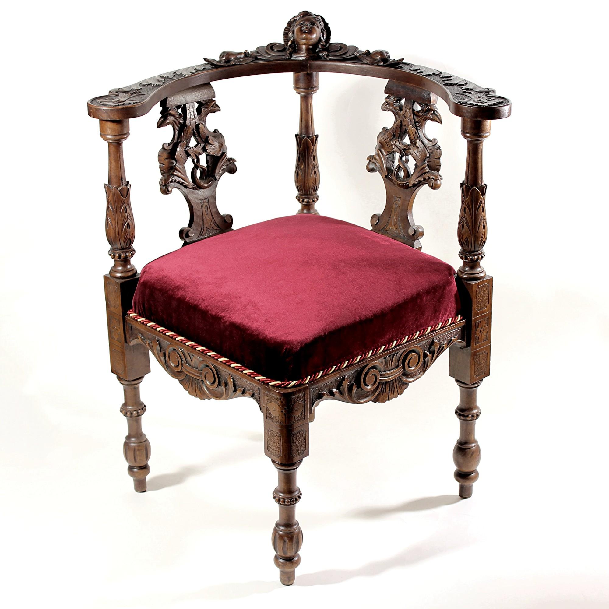 Кресло угловое. Парное. Ренессанс. Франция 19 век.