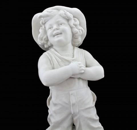 Старинная бисквитная скульптура. Бронза