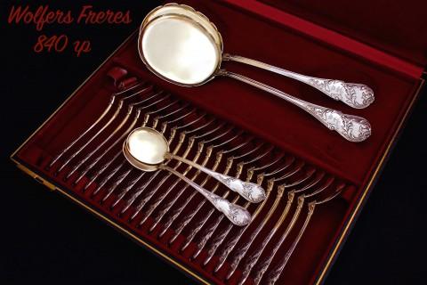 Десертный серебряный набор на 24 персоны