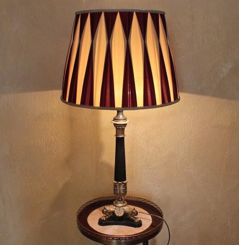Старинная настольная лампа Бронза Ампир