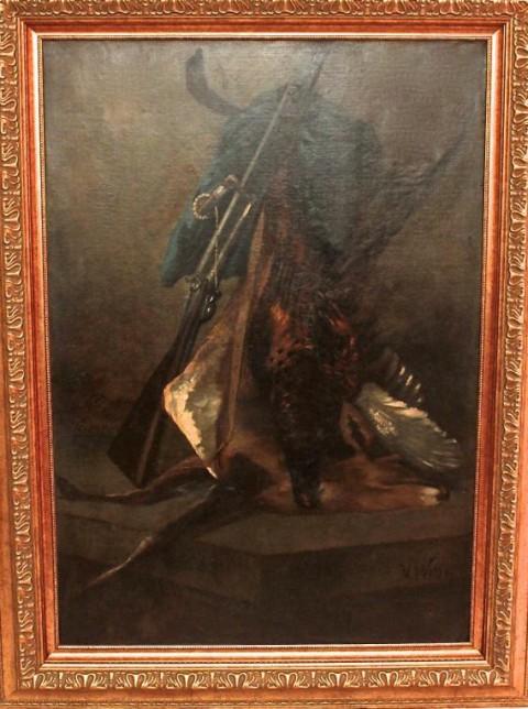 Натюрморт охотничий. Франция, 19 век. 1м 40 см!