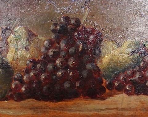 Старинный натюрморт с фруктами.