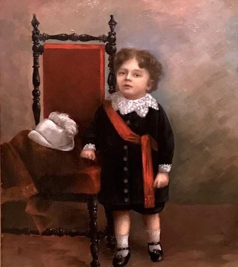 Старинный жанровый портрет мальчика