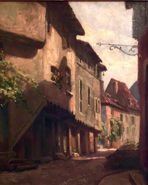 Старинный городской пейзаж в раме