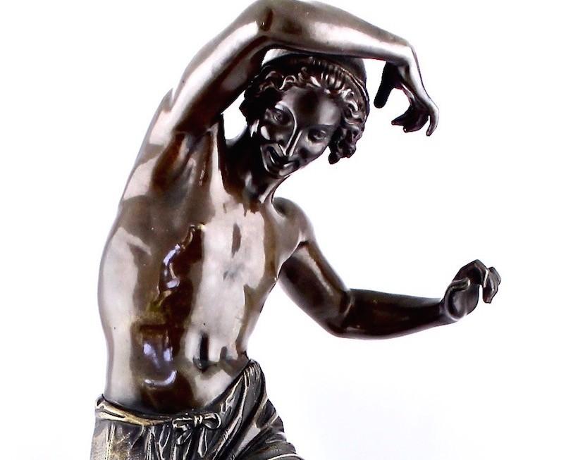 """Старинная бронзовая скульптура """"Танцор"""""""