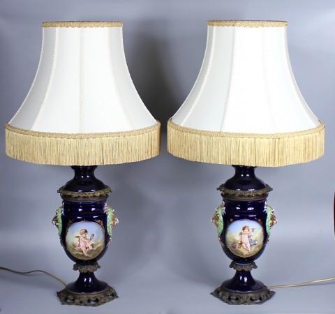 Парные фарфоровые лампы