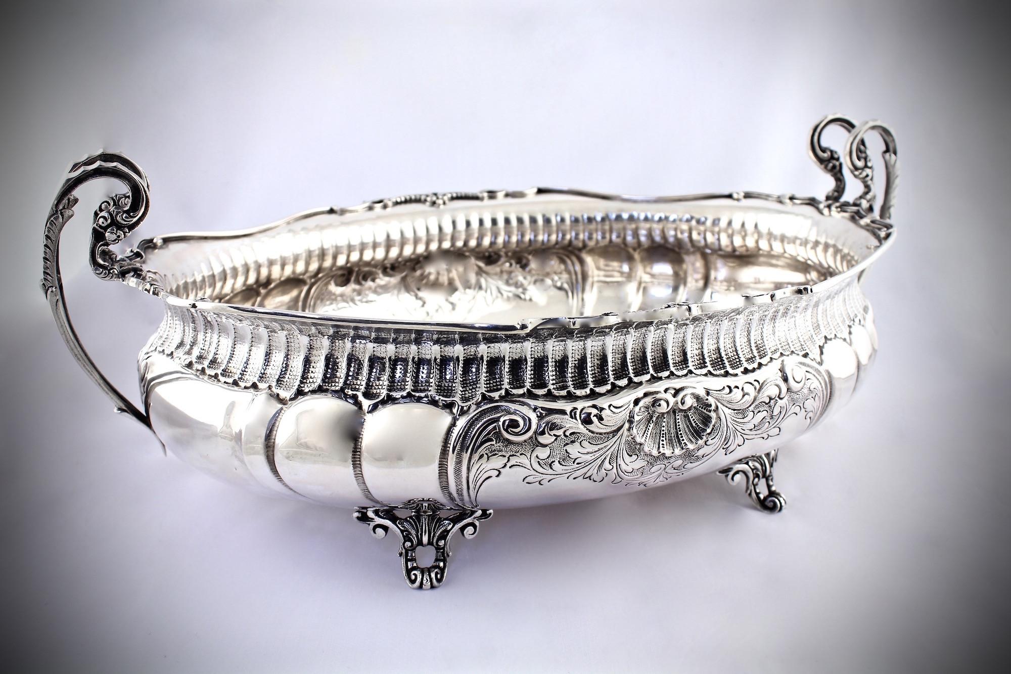 Серебряная ваза фруктовница