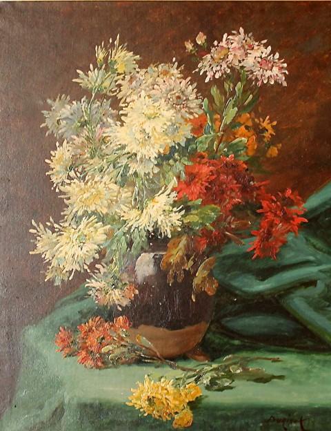 Натюрморт с цветами. Франция 19 век