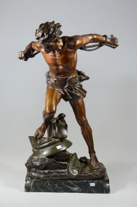 "Скульптура ""Самсон"". Edouard Drouot."