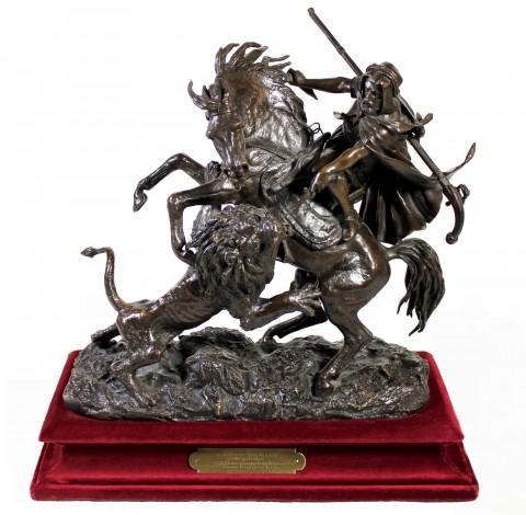 """Коллекционная бронзовая скульптура """"Охота на льва"""" от Christophe Fratin"""